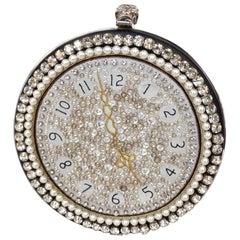 Alexander McQueen Embellished Rhinestone Clock Clutch