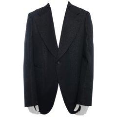 Comme des Garcons Homme Plus Fall 2014 Black Shimmer Jacket