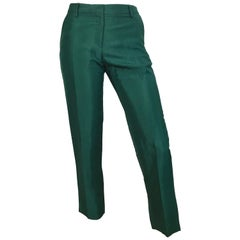 Dries Van Noten Green Dress Pants with Pockets Size 4 / 34.