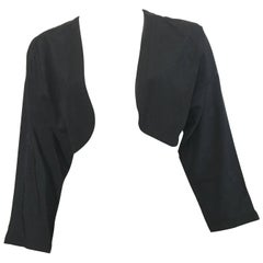 Ted Lapidus 1980s Black Cropped Bolero Jacket Size 8 / 10.