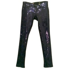 "Contemporary & New Navy Sequin Jeans By, ""AG"" Size 28"