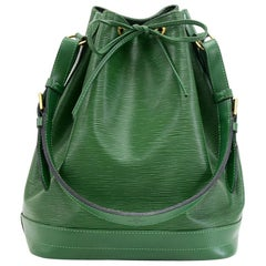 Vintage Louis Vuitton Noe Large Green Epi Leather Shoulder Bag