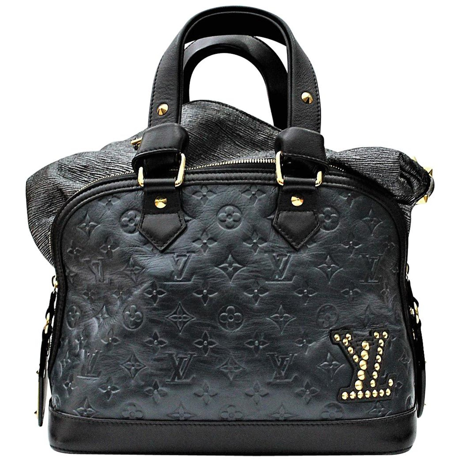 f560fb8a9541 Louis Vuitton Limited Edition Blue Monogram Double Jeu Neo-Alma Bag For  Sale at 1stdibs