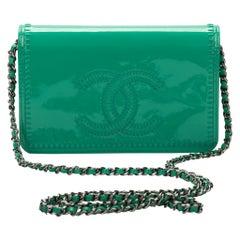 Chanel Emerald Green Patent Cross Body Bag