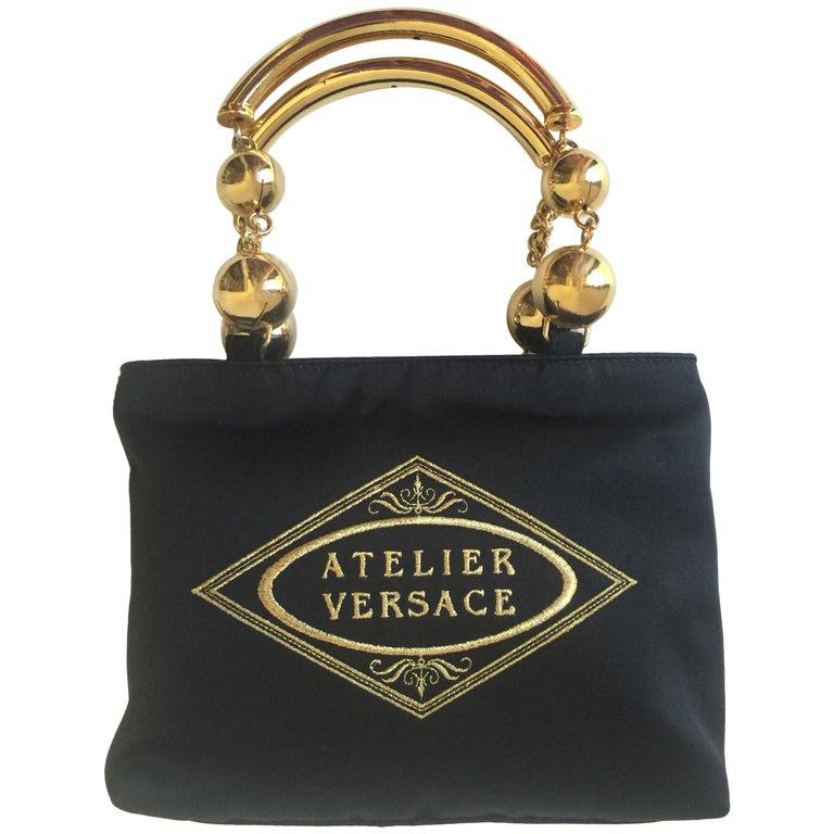 02f46e59c5 Vintage Gianni Versace Satin Evening bag at 1stdibs
