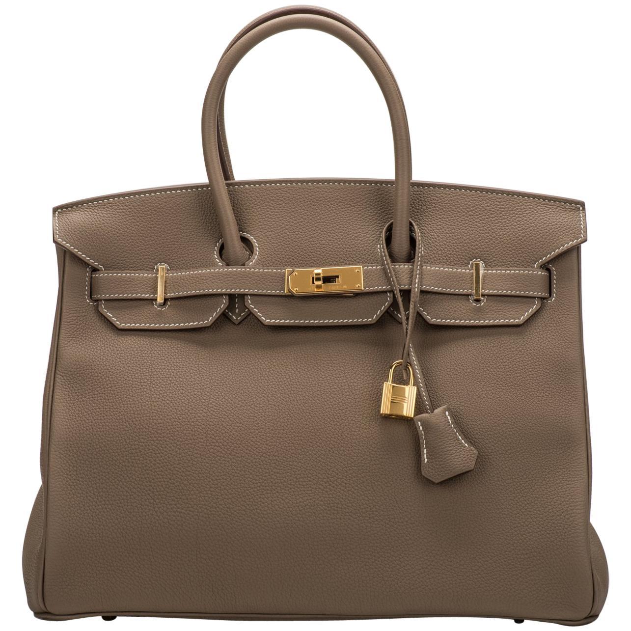 ... real new in box hermes birkin 35 etoupe gold togo bag 26778 7f080 2749d9065aeab
