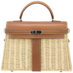 Hermes Wicker Barenia Picnic Kelly 35cm Bag