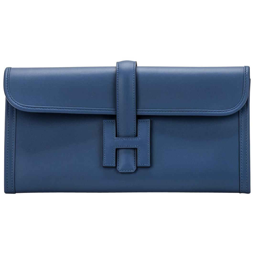 New in Box Hermes Jige Elan Blue Brighton