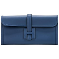 New in Box Hermes Jige Elan Blue Brighton