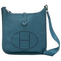 Hermes Vintage Evelyne PM Blue Jean