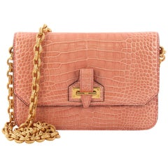 Tom Ford Buckle Chain Flap Bag Crocodile Small