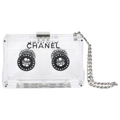 Chanel Clear Cassette Tape Lucite Clutch