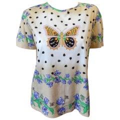 St. John 80s Sport Butterfly Printed T-Shirt
