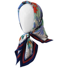 Christian Dior Silk Tropical Printed Scarf