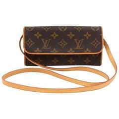 Vintage Louis Vuitton Pochette Twin PM Monogram Canvas Shoulder Bag