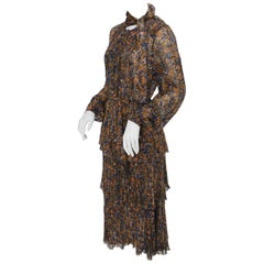 Jean Louis Scherrer boutique Paris Vintage Day Dress 1970s