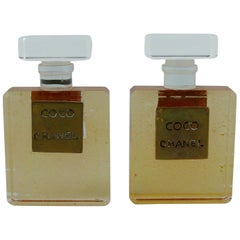 Chanel Vintage Vintage Coco Lucite Perfume Bottle Clip On Earringss
