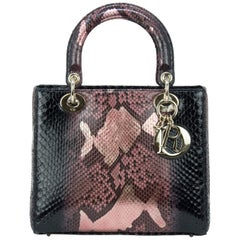 Dior Medium Metallic Python Lady Dior Bag
