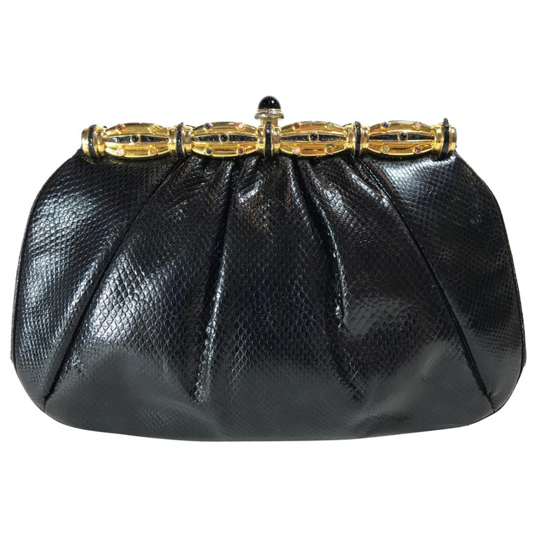 Judith Leiber Karung Pleated Frame Clutch