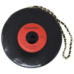 Chanel Vinyl Record Clutch