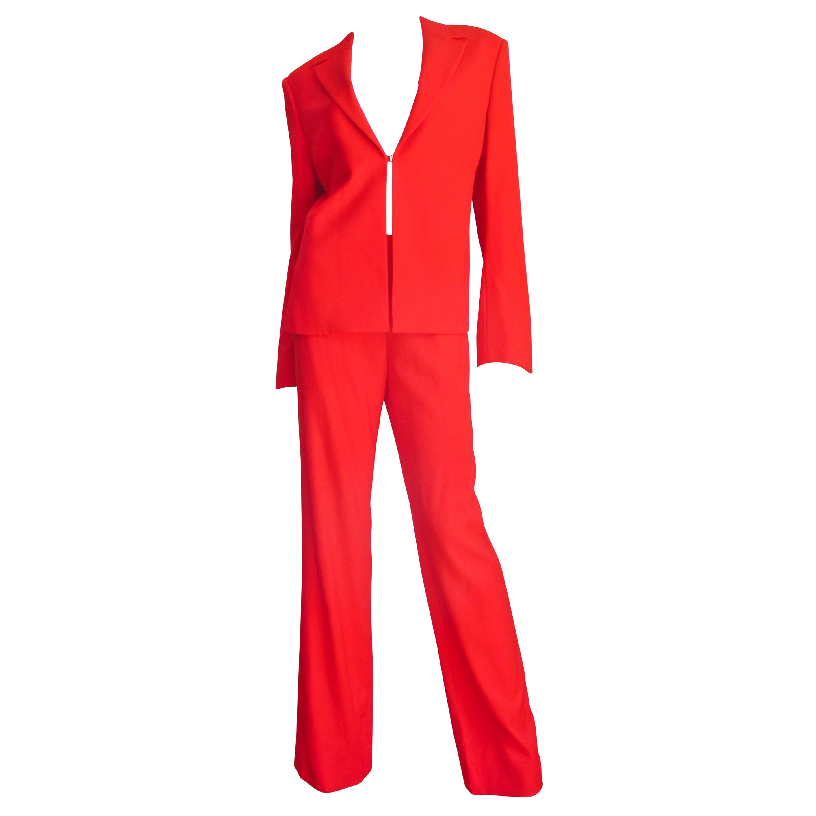 Gianni Versace Couture New Jacket and Pants Suit 1990s