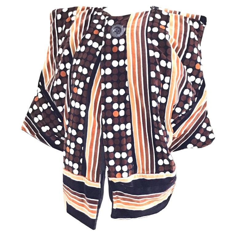 Reversible Velvet Kimono Box Jacket