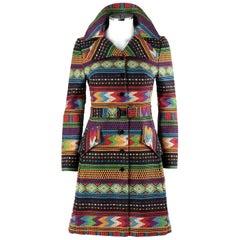 CAROL COHEN For GALAPAGO c.1960's Southwestern Tribal Princess Coat Jacket