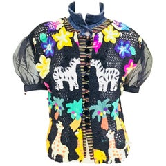 Multi Print Button Up Jacket