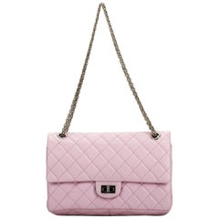 Chanel Pink Quilted Leather Reissue Medium Double Flap Bag