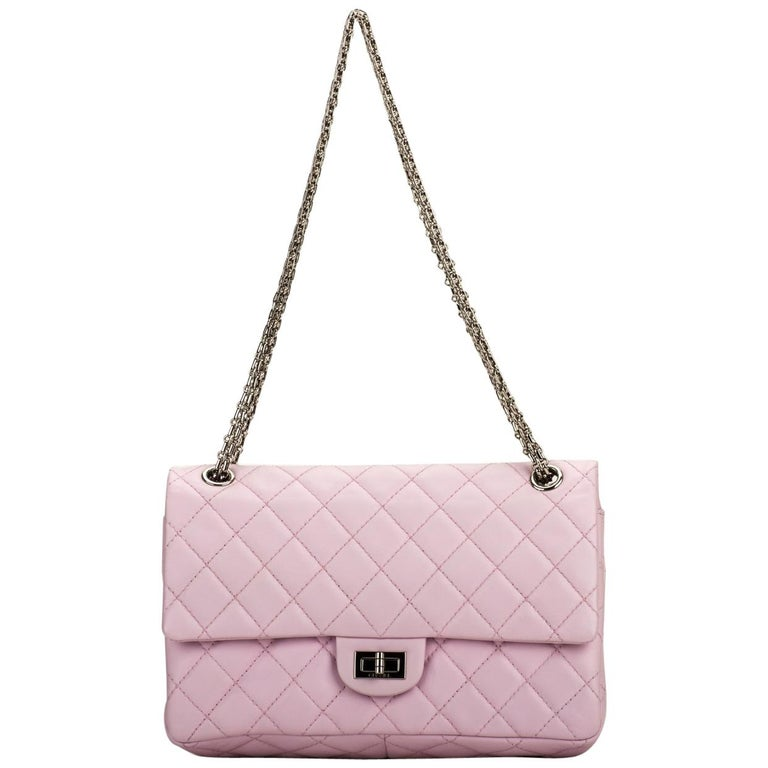 d130328e7a08 Chanel Pink Quilted Leather Reissue Medium Double Flap Bag For Sale ...