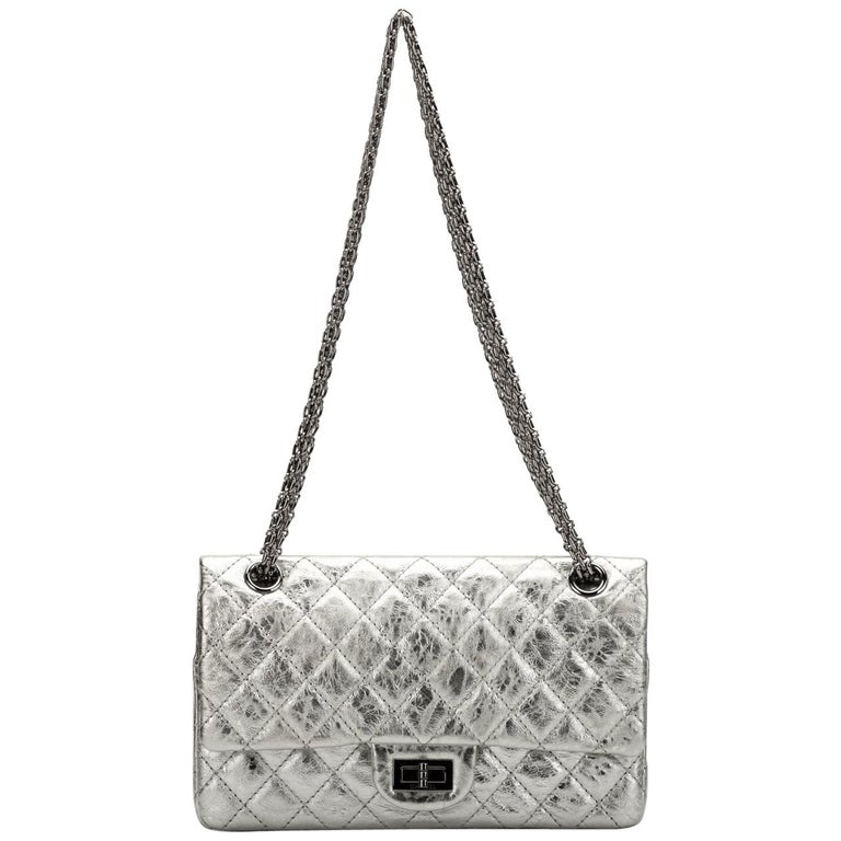 Chanel Silver Medium Reissue Double Flap Bag