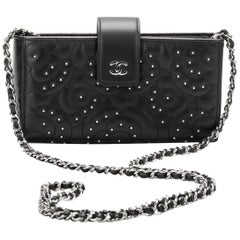 Chanel Camellia Studs Black Crossbody Bag