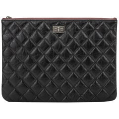 New in Box Chanel  Black Reissue Leather Clutch Bag