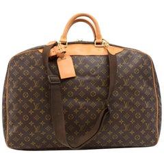 Vintage Louis Vuitton Alize Monogram Canvas Garment Travel Bag + Strap