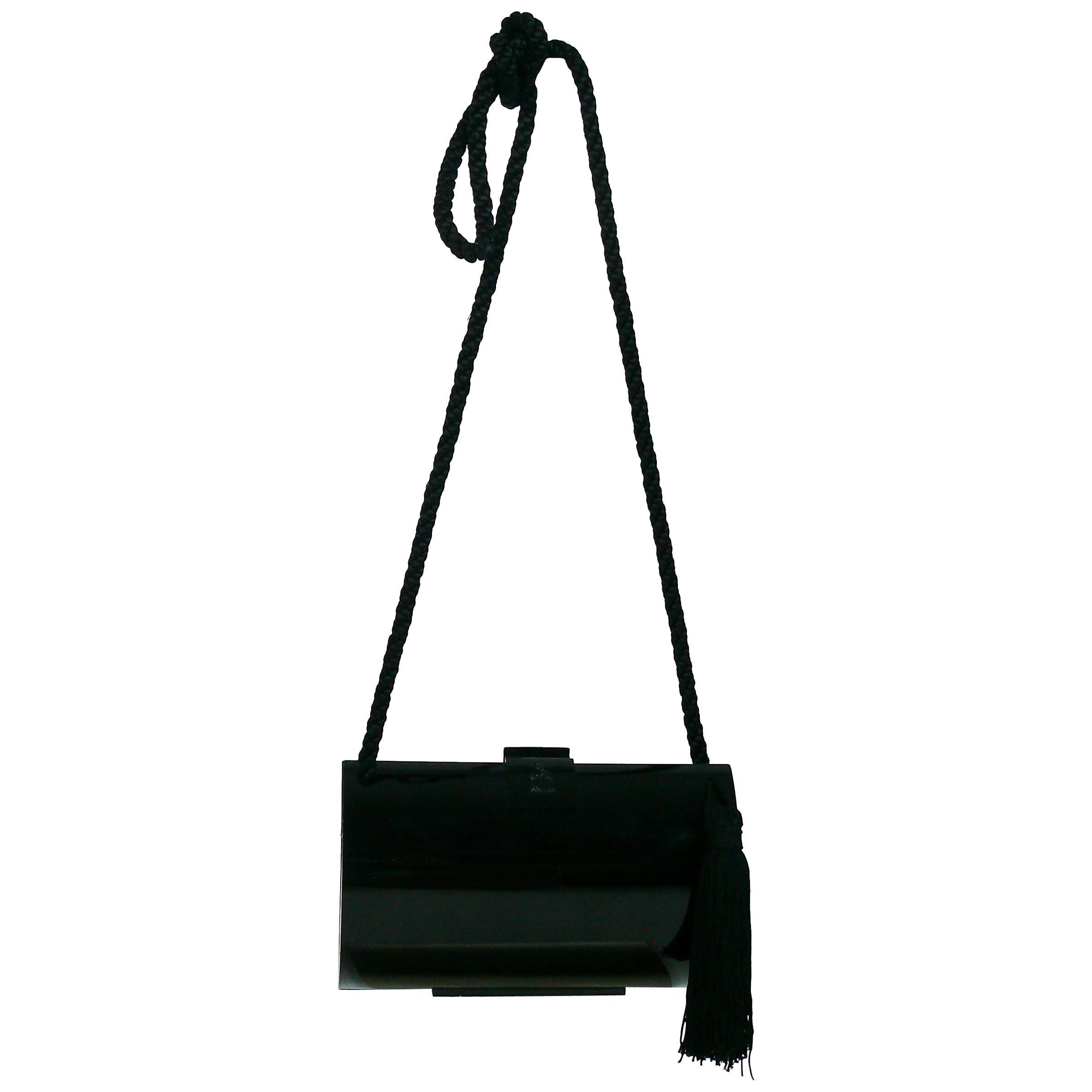 Lanvin Vintage Tassel Minaudiere Shoulder Bag