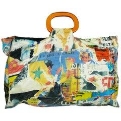 Christian Lacroix Bazar Vintage Lacerated Poster Pop Art Tote Bag