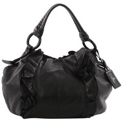 Prada Ruffle Hobo Nappa Leather Large
