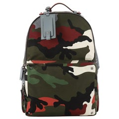 Valentino Camouflage Backpack Nylon And Leather Large