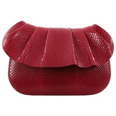 The Row Fan Shoulder Bag Python 10