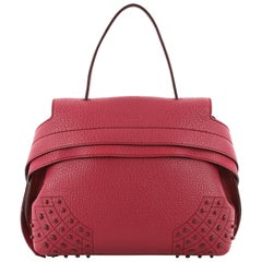 Tod's Studded Convertible Wave Bag Leather Mini