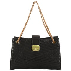 Chanel Gabrielle Tote Chevron Leather Large