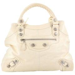 Balenciaga Brief Giant Studs Handbag Leather