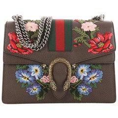 Gucci Web Dionysus Handbag Embroidered Leather Medium