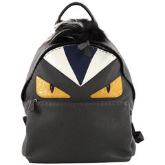Fendi Selleria Monster Backpack Leather and Fur Medium