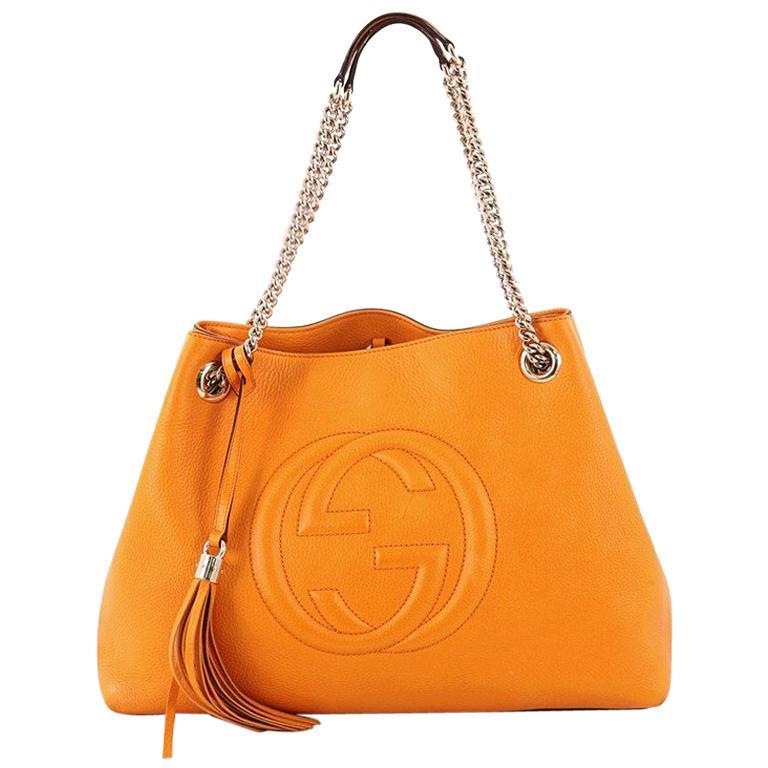 f371a22e6513 Gucci Soho Chain Strap Shoulder Bag Leather Medium at 1stdibs