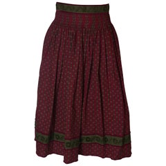 Vintage Burgundy Skirt