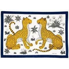 Hermès rare cheetah placemats, 80s
