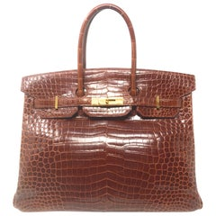Hermes Birkin 35cm Brown Crocodile