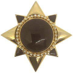 Gianni De Liguoro 1980s brooch from Elsa Martinelli's collection