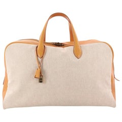 Hermes Victoria Travel Bag Toile 50
